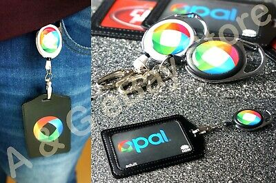 2x Retractable Lanyard ID Badge Opal Card Holder Business Pass Security Card Tag
