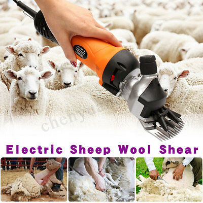 500W Electric Shearing Supplies Livestock Goat Sheep Clipper Farm Alpaca Set