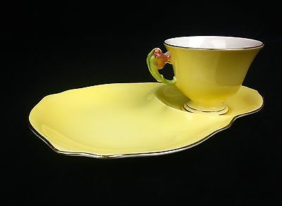 Royal Winton Grimwades 1940's Tea Cup And Plate / Tea For One / Yellow