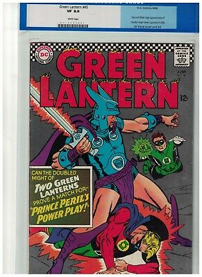 Green Lantern CGC 8.0 issue 45 VFN DC Comics white pages Golden age