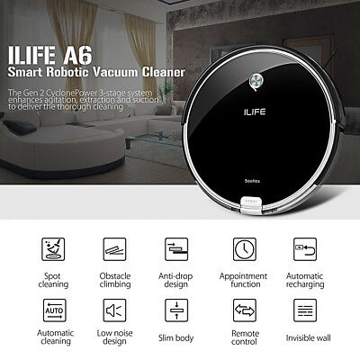 ILIFE A6 Smart Cleaning Vacuum Robot 1000pa Anti-collision Remote Control OBS