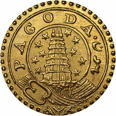 India Madras Presidency, 1808-12, Gold Pagoda, NGC MS-64. Best I have ever seen!