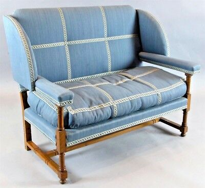 An English Walnut Settee by Morant & Co. Bond Street - Provenance Cowdray Park