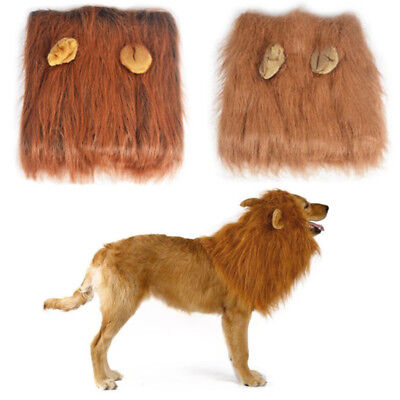 Pet Clothes Halloween Large Dog Costumes Fancy Dress Up Lion Mane Wig for Dogs