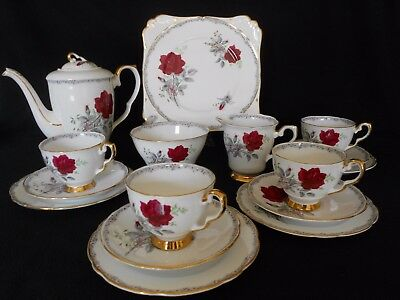 Royal Stafford  Roses To Remember  China Coffee/ Tea Set With Coffee Pot / Gift