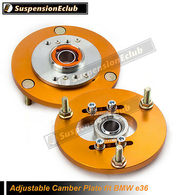 Camber Plates fit E36 BMW Top Mounts Front x2 for Shock Suspension Coilover