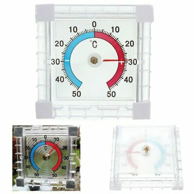New Self Adhesive Window Wall Temperature Thermometer Indoor Outdoor Home Office