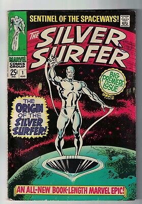 MARVEL COMICS issue 1  SILVER SURFER fantastic four VGF 5.0 1969