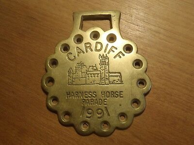 Cardiff Harness Horse Parade 1991 Plaque Metal