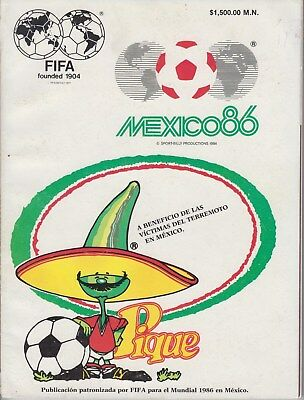 RARE FIFA  edition 1986 Mexico World Cup Final Official Programme Original
