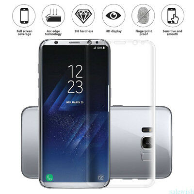 Full Coverage 3D Temper Glass Screen Protector For Samsung S7 Edge S8 Plus Note8