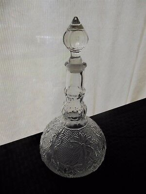 Tiara Indiana Glass Clear Sandwich Wine Decanter & Stopper