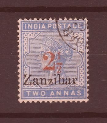 Zanzibar 1896 SG # 28 surcharge type 8 with small z vf used