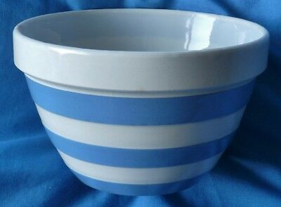 T G Green blue and white bowl