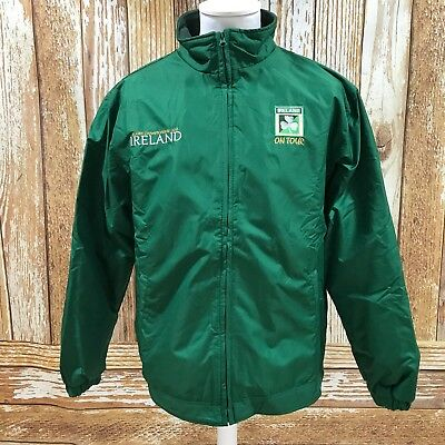 NEW IRELAND Green Six Nations Rugby 2011 Showerproof Jacket Mens Size M 29612