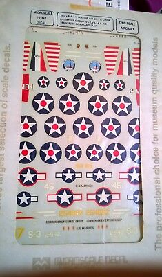 1:72 Microscale SBD Dauntless & A.24 US Navy decals #72447