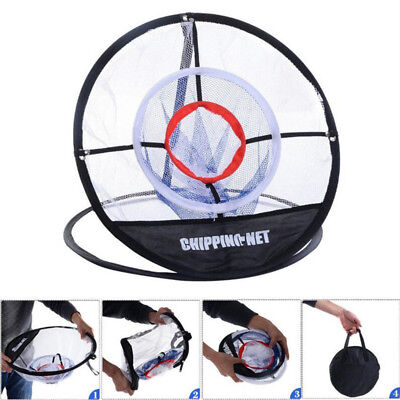 Portable Golf Training Chipping Net Hitting Aid Practice Outdoor Bag Fold 11.4''