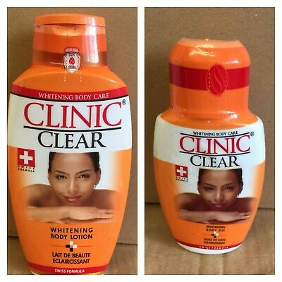 1 x Clinic Clear Whitening 500ml Lotion + 1 x Clinic Clear 125ml Oil
