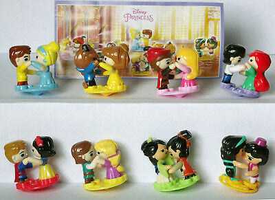 NEW set DISNEY PRINCESS 2017 Kinder Surprise Toy collection from Russia + BPZ