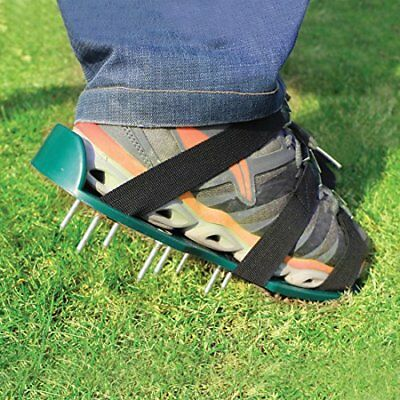 Lawn Aerator Spike Shoes – For Effectively Aerating Lawn Soil – Comes with 3 Adj