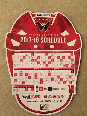 Washington Capitals Magnet Game Schedule