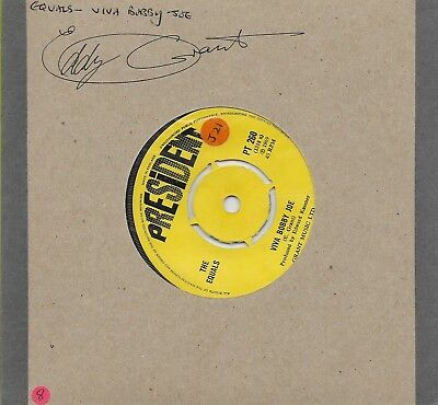 Signed The Equals Record-Eddy Grant-7 Inch 45 Rpm--Aftal Autograph