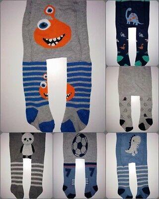 baby boys tights leg warmers stretchy cotton 6-9-12-18-24 month boyish patterns