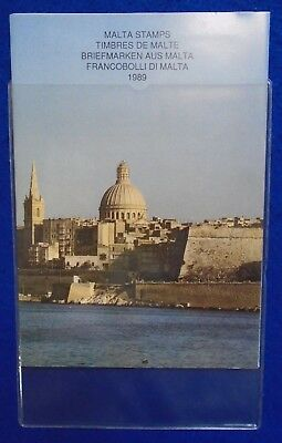 1989 Malta Post Complete Year Pack + Card & Protective Cover MNH.
