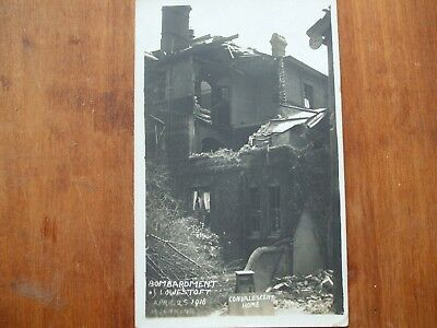 orig Real photo postcard,convalescent home,Bombardment of Lowestoft,1916.