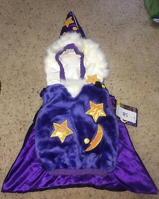 Wizard Vest One Piece Halloween Costume Purple 24 Months toddler *