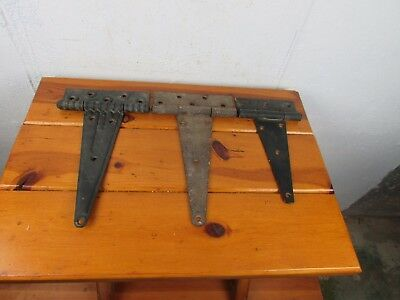 Barn Door Strap Hinges Assorted 3 Vintage Architectural Hardware Rustic Patina