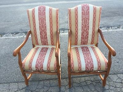 A Pair of French arm chairs