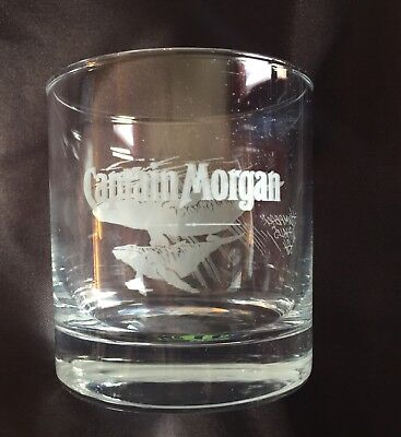 Captain Morgan - Humpback Whales - Old Fashioned Bar Glass 10oz -RARE