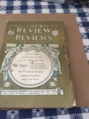 Antique  December 1907. THE AMERICAN REVIEW OF REVIEWS  MAGAZINE  - VINTAGE