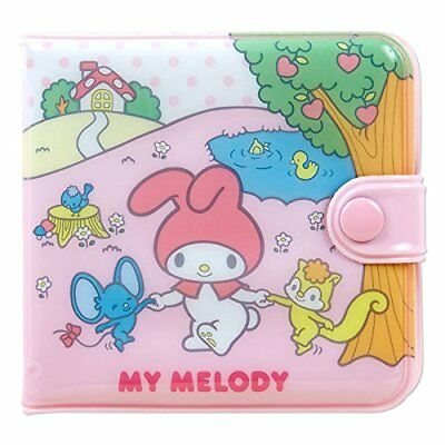 Sanrio My Melody Pink Small Wallet Square Vinyl Purse Money Case New From Japan
