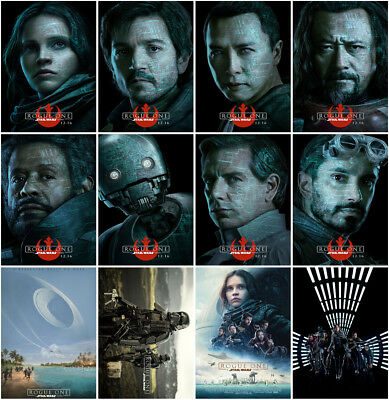 12 Rogue One: A Star Wars Story 2016 Mirror Surface Postcard Promo Card Poster A
