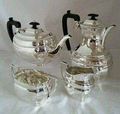 George V sterling silver four piece tea service Birmingham1935.By W F Mitchell