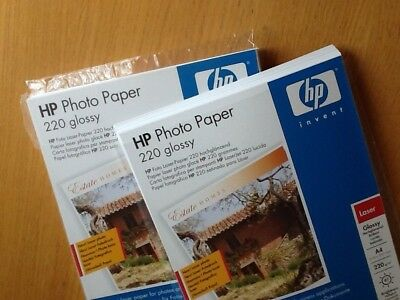 HP Laser Photo Paper 220g Glossy A4, Opened Package of 97 Brightness 130 approx