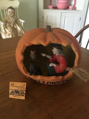 Bethany Lowe Halloween Pumpkin Owl Black Cat Witch Retired