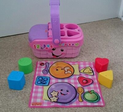 Fisher Price Pink Picnic Basket Shape Sorter Sounds and Songs