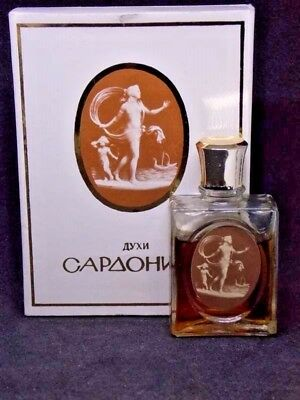 Antique USSR collectibele parfum Sardoniks 2 Винтаж духи Сардоникс Novaya Zarya
