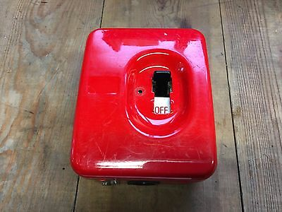 Vintage Fireman Switch 20A Double Pole Switch Re-wire-able fuse