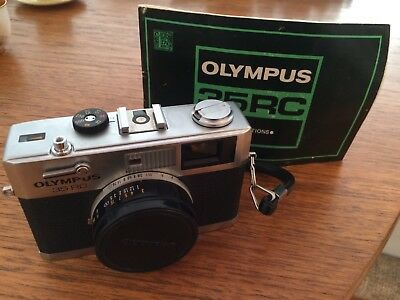 Olympus 35 RC 35mm Film Camera From 1970s With Original Instructions