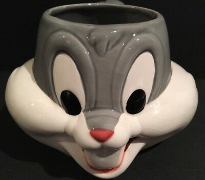 Vintage 1992 Bugs Bunny Applause Novelty Ceramic Coffee Mug Looney Tunes 3D