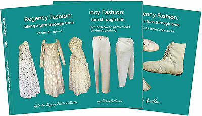 'Regency Fashion: taking a turn through time' books 3 vols Sylvestra Regency