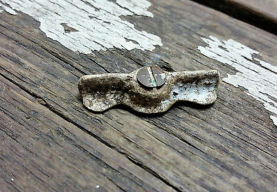 VTG Old SHABBY Rustic Jelly Cupboard Bow Tie Turn Latch Lock HOOSIER Cabinet *