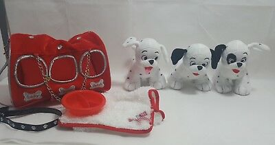 Disney store 101 dalmatians soft lucky roly patch in carry bag with accessories