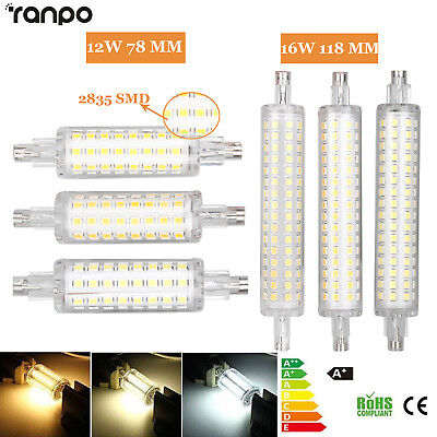 LED Flood Light R7S 78mm 118mm Bulb 12W 16W 2835 SMD  Replacement Halogen Lamps