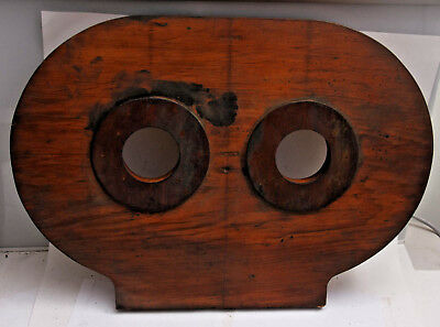 """Lamson Goodnow Wood Casting Mold Pattern 23"""" Steampunk Eyes - Stamped LG&Co M11"""