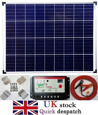 120w Solar Panel +10A Charger Controller +7m cable +fuse +battery clip +brackets
